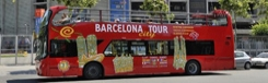 Met de Hop-on Hop-off bus door Barcelona